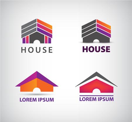 vector house logo for company, icon isolated, identity