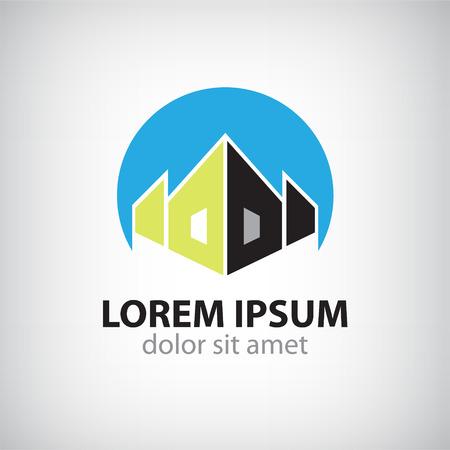 carpintero: casa vector icono silueta, logotipo de aislados empresa