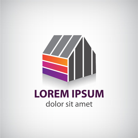 sell house: vector house logo for company, icon isolated, identity