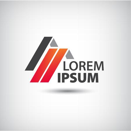 logotipo de construccion: techos vector, icono de la casa, aislados logo colorido compa��a