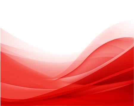 fondo rojo: vector abstracto ondulado rojo fondo de seda flujo, fondos de escritorio Vectores
