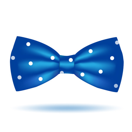 Vector blue bow tie icon isolated on white background. Elegant style