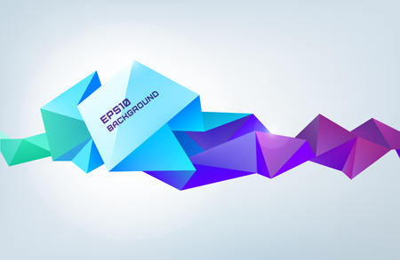vector geometric shape, abstract colorful futuristic background, banner