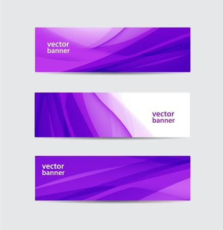 purple silk: conjunto de vectores abstractos de seda p�rpura banderas onduladas flujo