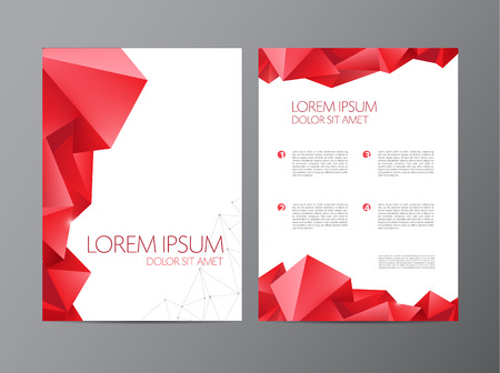 Abstract vector moderne flyer brochure ontwerpsjablonen met geometrische driehoekige achtergrond Stock Illustratie