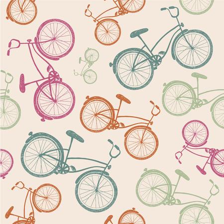 vector retro vintage fiets textuur, hipster achtergrond Stock Illustratie