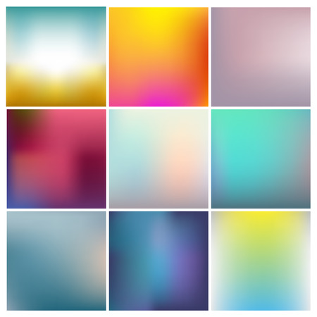 vector set of abstract colorful unfocused backgrounds