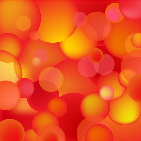 rounds: abstract red and orange bubbles, rounds background, texture Illustration