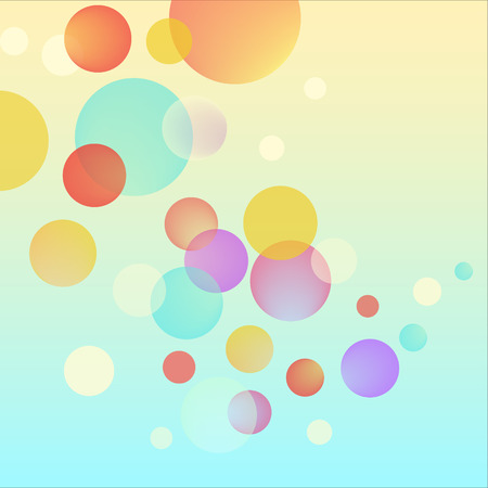 bubble background: Vector abstract bubble positive circles colorful background Illustration