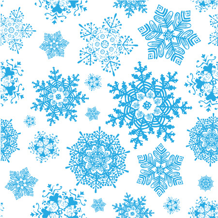vector vector winter snowflakes blue christmas seamless pattern winter background copy square to the side and you ll get seamlessly tiling pattern - I Ll Have A Blue Christmas