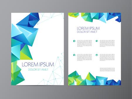 geometria: Resumen de vectores modernos plantillas de diseño folleto aviador con el fondo geométrico triangular