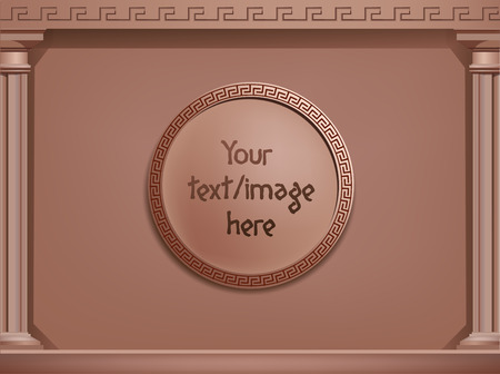 archway: vector brown greek style background, business concept. You can use it for cards, brochures, web, banners, etc