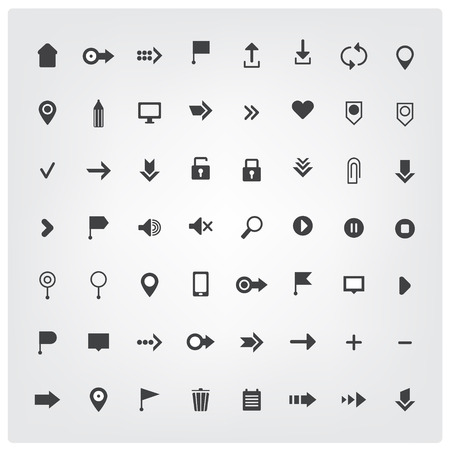 universal icons: vector set of web universal icons isolated