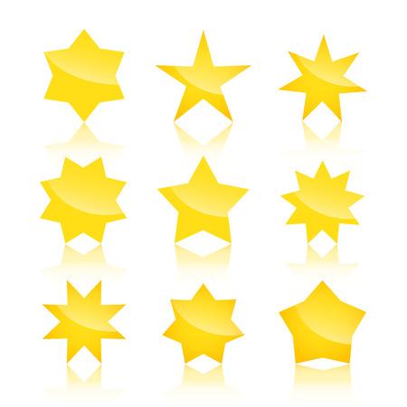 estrellas: Vector conjunto de estrellas amarillas iconos aislados