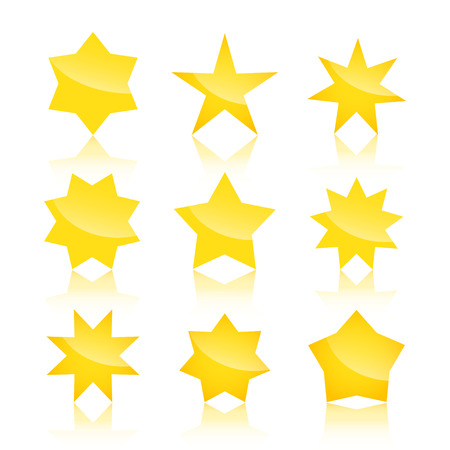 stars: Vector set of yellow stars icons isolated Illustration