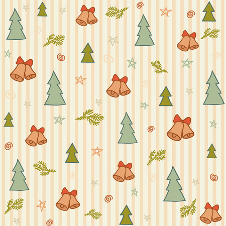 vector christmas cute drawn pattern background, pattern Vector