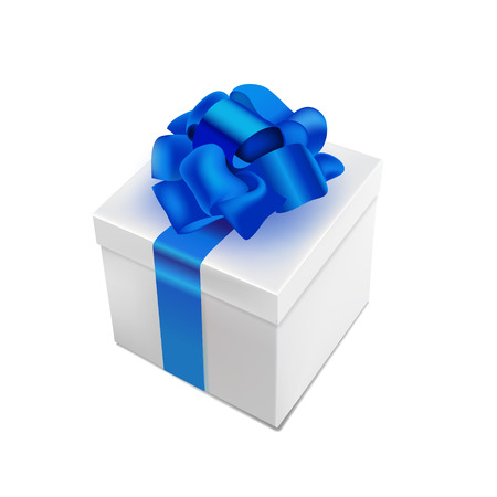 donative: vector realistic 3d present box with bow tie isolated