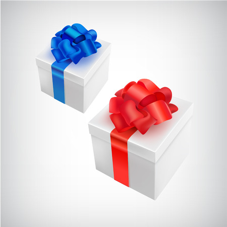 pledge: vector realistic 3d present box with bow tie isolated