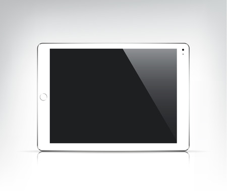 vector realistic white tablet pc  with empty screen isolated Vector