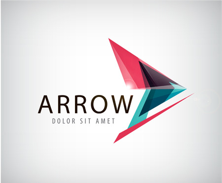 vector arrow: vector abstract shiny arrow , icon isolated Illustration