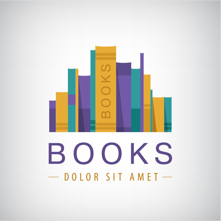 books: vector colorful books icon. Illustration