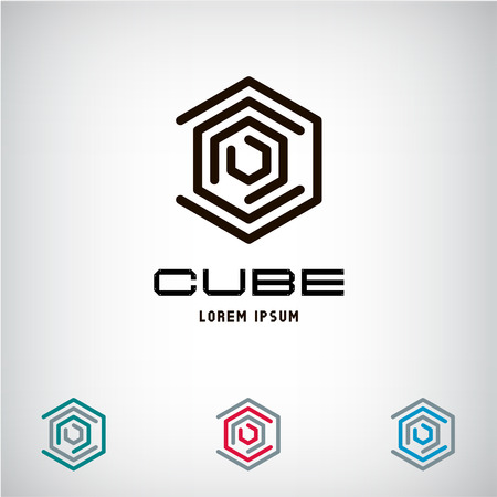 Technology Business abstract cube icon