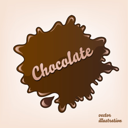 torrent: vector sweet illustration dark brown chocolate splash isolated Illustration