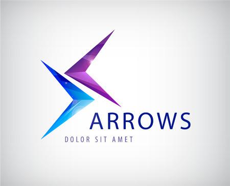 vector 2 colorful arrows icon