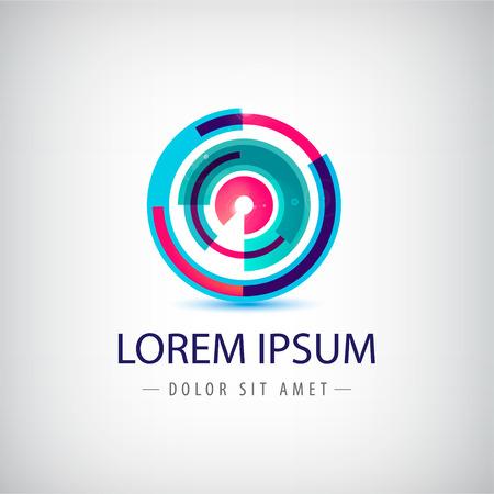 the loop: Resumen de vectores de bucle círculo colorido
