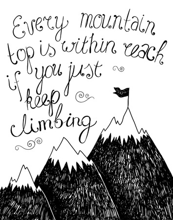 motivation: Hand drawn typography poster. Inspirational quote for  card. Inspirational vector typography.