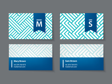 business cards: vector set of modern business card templates