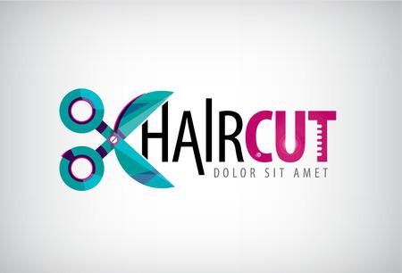 vector scissors logo, icon, hair cut icon isolated. Salon Illustration