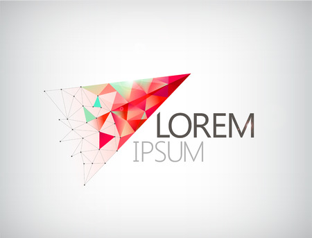 abstract modern triangle construction logo