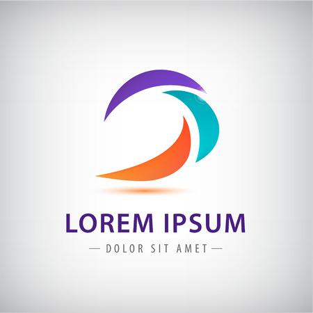 logo company: Swirl company logo design Illustration