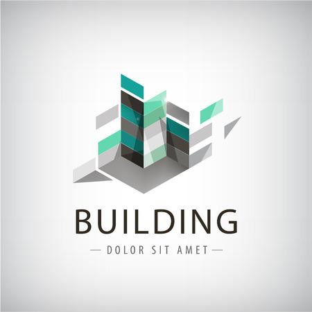 construccion: Logo Resumen de edificios de colores