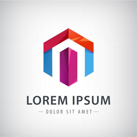 logo element: Company ribbon vector logo design element Illustration