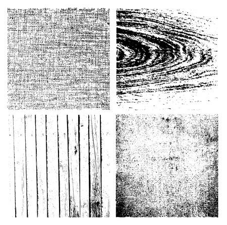 textures: Grunge Texturen gesetzt aus Holz Illustration