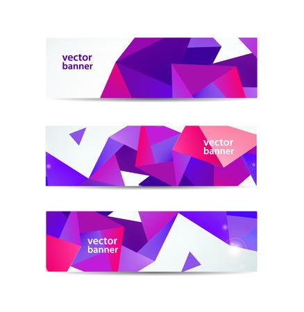 vector set van kristal moderne facetten geometrische kleurrijke banners geïsoleerd