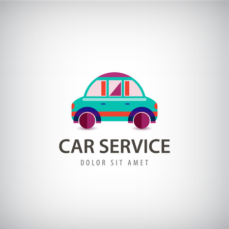 Vector auto service logo, geïsoleerde pictogram. Identiteit. Flat modern kleurrijk ontwerp Logo