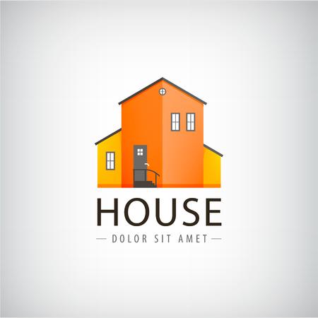 building estate: Vector house  real estate , village building, town Rent, investment Illustration