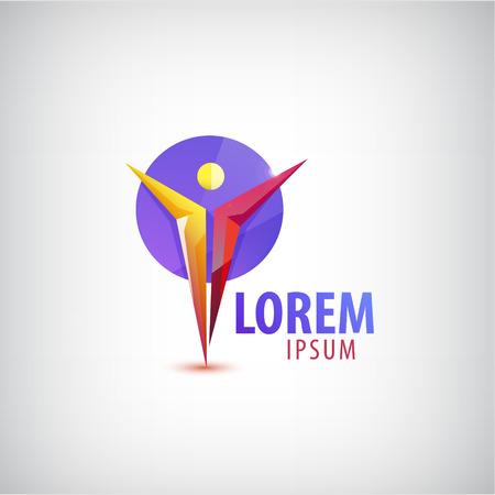 Vector man, human, leader logo icon isolated Illustration