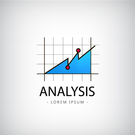 business report: Vector analysis logo, market logo, icon, chart logo isolated