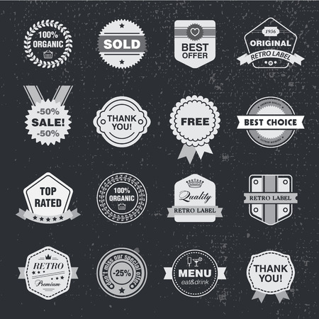stamp design: Vector design template set, collection for making badge, stamp. Hipster frames ribbons, arrows design elements.