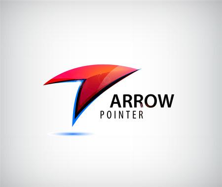 flecha derecha: Vector web de resumen, flecha, icono de la flecha. punto