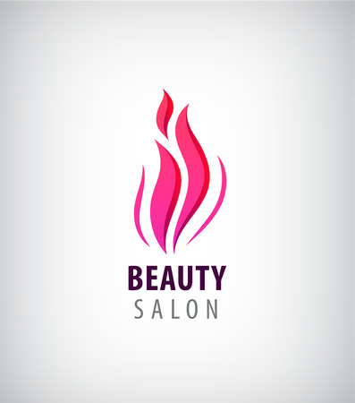 massage symbol: Spa and Beauty nature symbol and concept,. Abstract design concept for beauty salon, massage, cosmetic and spa. Vector  design template