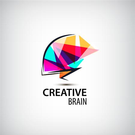 Vector creative mind  , brain  dentity. Brainstorming, technologies  , think