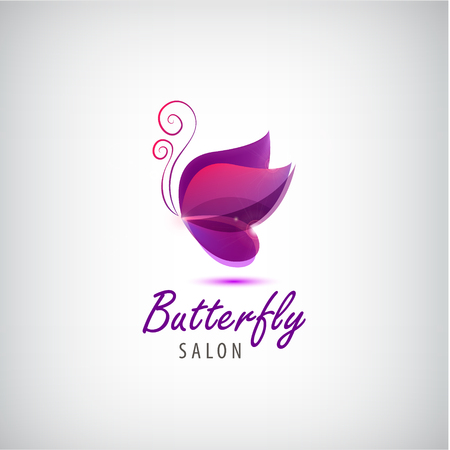 butterfly and women: Vector butterfly  . Spa salon  , beauty salon  , abstract identity Illustration