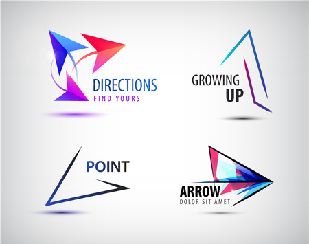 next to: Vector set of arrow logos Illustration