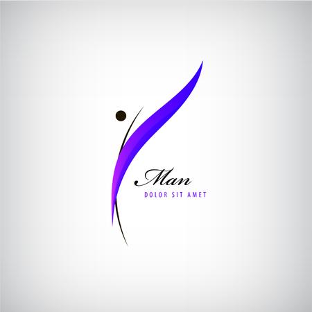Vector uomo logo, icona isolato. concetto di fitness, figura, logo forma