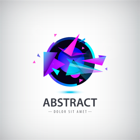 logos de empresas: logotipo de esfera abstracta del vector con formas geométricas. estilo de diseño de movimiento.